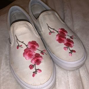 Authentic embroidery patched vans